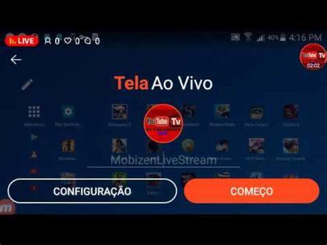 tutorial como transmitir ao vivo no android mobizen live