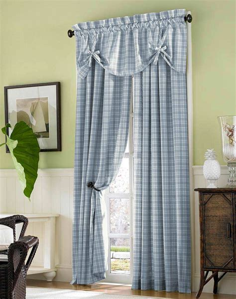 decoration ideas contemporary blue cotton curtain in