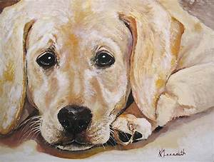 Yellow Labrador Painting by Kevin Meredith