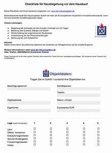 Checkliste Hauskauf Besichtigung : checkliste hauskauf kostenlose pdf der hausinspektor ~ Watch28wear.com Haus und Dekorationen