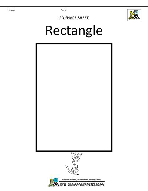 preschool rectangle activities shapes clipart basic 2d shapes 675
