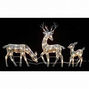 30, In, Glittered, Doe, Fawn, With, Reindeer, Lighted, Christmas, Outdoor, Decor, 3