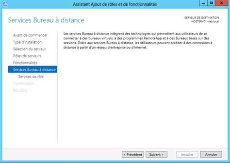 service bureau à distance windows 7 windows server 2012 installation du rôle de