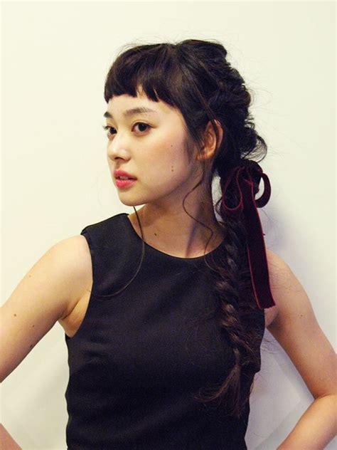 hair style in のフィッシュボーンアレンジ ヘアカタログ wedding bangs 5082