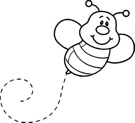 bee coloring page basic fly bee coloring page wecoloringpage