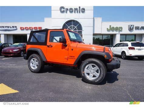 jeep wrangler sunset orange 2015 sunset orange pearl jeep wrangler sport 4x4