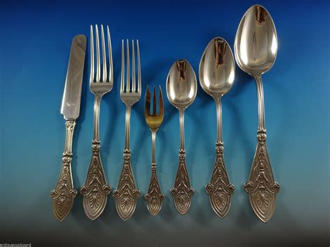 silver sterling italian flatware tiffany pieces service