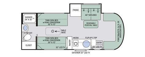 rv class sprinter motorhome floor plans thefloors co