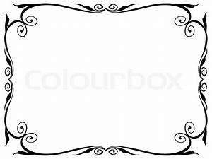 Bilder Mit Rahmen Modern : einfachen ornamentalen dekorativen rahmen vektorgrafik colourbox ~ Bigdaddyawards.com Haus und Dekorationen