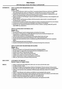 amazing experience resume for automation testing images With automation resume