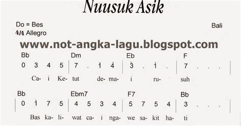 not angka pianika lagu indonesia pusaka not angka ngusak asik kumpulan not angka lagu