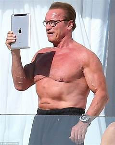 Arnold Schwarzenegger Takes Selfie During Cannes