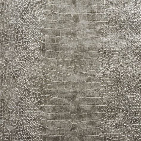 Grey Upholstery Fabric Sale by G045 Gray Metallic Alligator Faux Leather Upholstery
