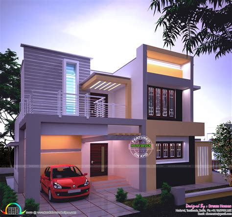 kerala house plans keralahouseplanner home designs elevations sq ft beautiful modern in night