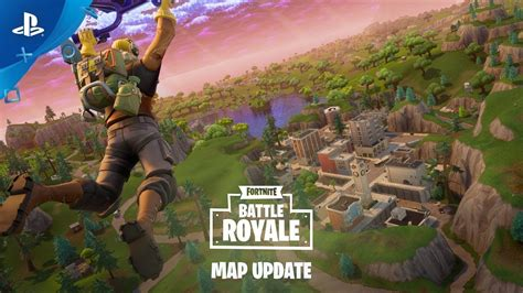 fortnite battle royale map update ps youtube