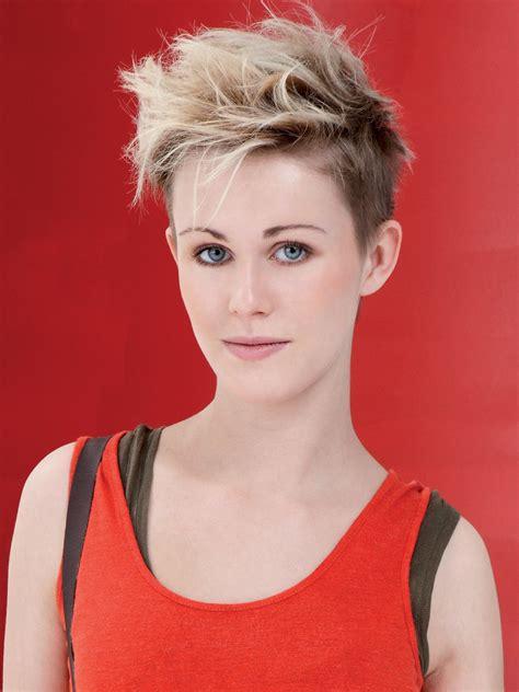 short haircut  windswept styling  fun  confident women