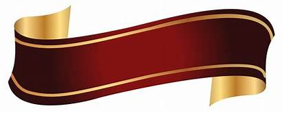 Banner Ribbon Gold Transparent Clipart Banners Background