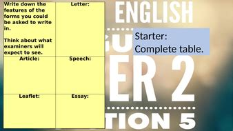 Positive language, rhetorical questions, facts and expert opinions to validate ideas. English Language Paper 2 question 5 forms   Teaching Resources