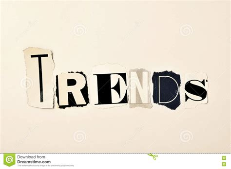 The Word Trends Stock Photo  Image 70567198