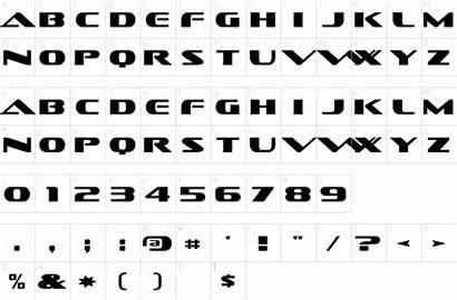 Font Fonts Character Map 1001