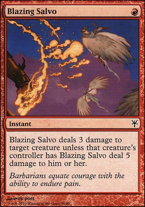 mtg deck tapped out blazing salvo ddk mtg card