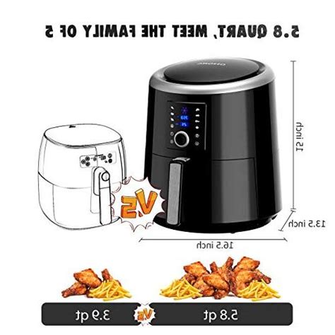 air omorc fryer xl oven 8qt airfryer oilless cooker recommendation recipe