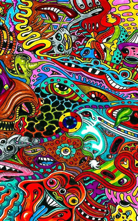 surreal colorful psychedelic wallpaper