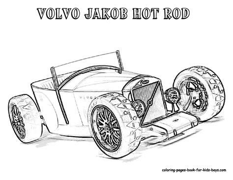 Kleurplaat Hotrod by Rod Coloring Pages To And Print For Free