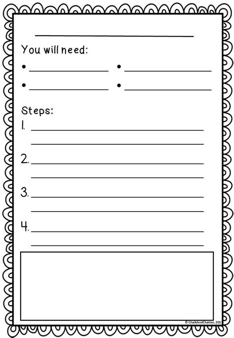 procedural writing template the 25 best procedural writing ideas on procedure writing procedural text and