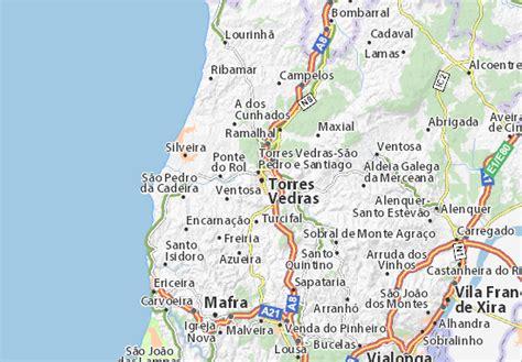 map of torres vedras michelin torres vedras map