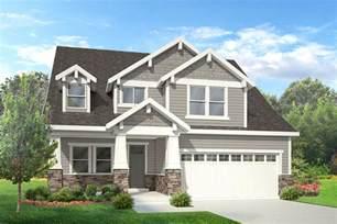 two story craftsman cbell walker home design