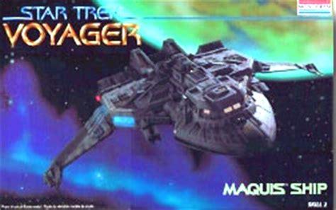 maquis ship  star trek voyager  revell monogram fantastic plastic models