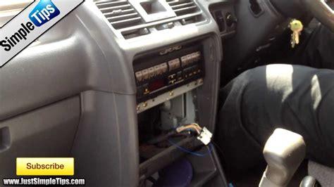 Radio Removal Mitsubishi Pajero | JustAudioTips - YouTube
