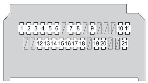 Toyota Yaris Hatchback Fuse Box Diagram