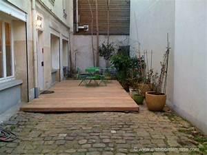 terrase dalle beton terrasse terrasse bois et pave dalle With maison avec escalier exterieur 7 pergola creation terrasse en bois sur cambrai saint