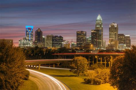 charlotte carolina north skyline cities towns downtown near getty lightvision law museums strip moment