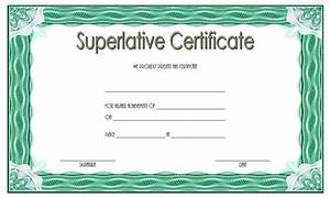 Preschool Graduation Certificate Superlative Certificate Templates Free 10 Great Designs