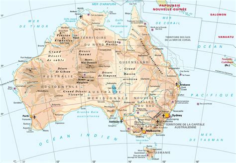 Carte Australie Ville cartograf fr l australie