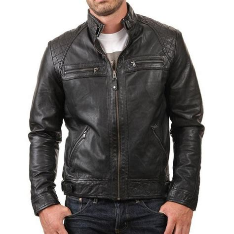 genuine leather motorcycle jacket retro style new biker mens black genuine leather jacket
