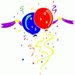 New Year's Clip Art Balloons and Confetti