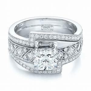custom interlocking diamond engagement ring 102177 With interlocking engagement ring wedding band