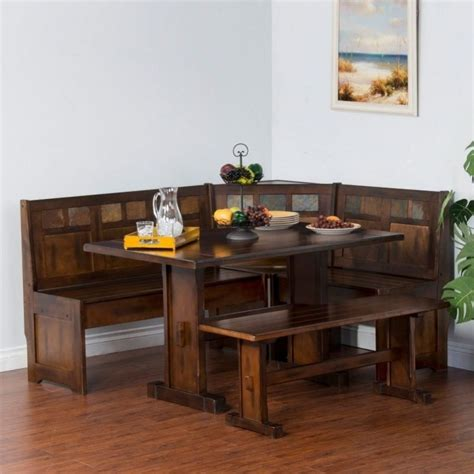 pine wood kitchen table comfy corner breakfast nook wood dining set country