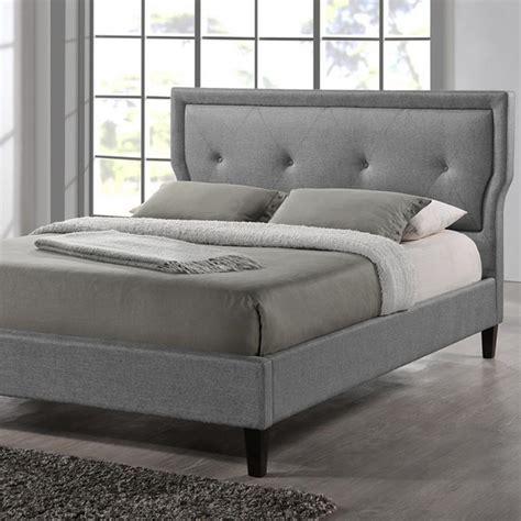 3162 grey upholstered king bed baxton studio marquesa transitional gray fabric