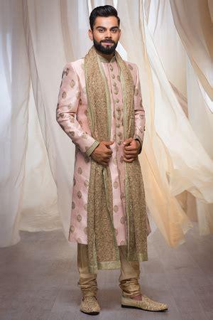 stylish sherwani   touch  golden sequin work