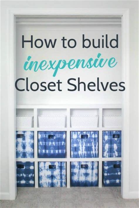 17 best ideas about diy closet shelves on