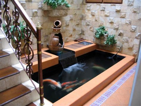 ide desain kolam ikan minimalis modern  sun rooms