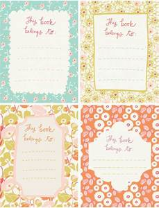 free printable bookplates for members september roost With free bookplate template