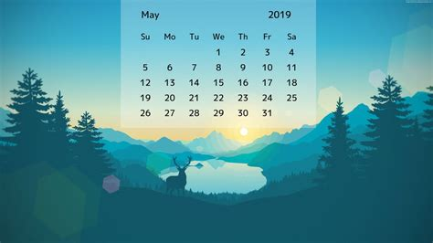 May 2019 Desktop Calendar