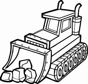 Best Stone Shovel Bulldozer Coloring Page | Wecoloringpage.com