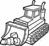 Shovel Drawing Coloring Bulldozer Clipartmag sketch template
